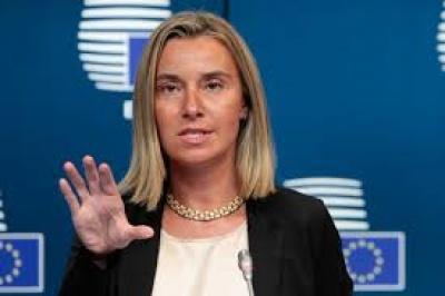 Mogherini (ΕΕ): Η ΕΕ στηρίζει τη δημιουργία δύο ανεξάρτητων κρατών στη Μέση Ανατολή - Tου Ισραήλ και της Παλαιστίνης