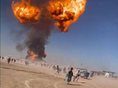 Αφγανιστάν: Ισχυρότατες εκρήξεις σε convoy βυτιοφόρων έγιναν ορατές στο διάστημα!