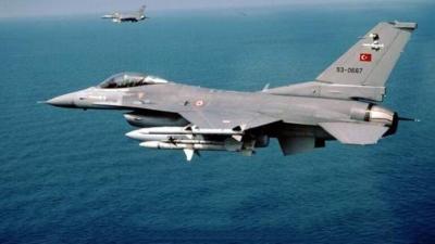 Πτήσεις τουρκικών F-16 πάνω από το Στρογγυλό και τους Ανθρωποφάγους