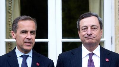 Τους χρηματοπιστωτικούς κινδύνους του Brexit εξετάζουν ΕΚΤ και Τράπεζα της Αγγλίας