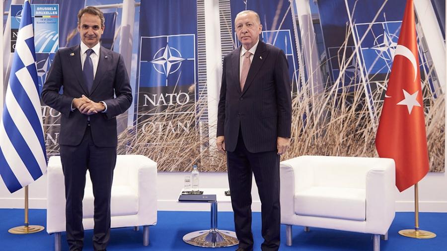 Σύνοδος ΝΑΤΟ: Ολοκληρώθηκε η κρίσιμη συνάντηση Μητσοτάκη με Erdogan στις Βρυξέλλες - Τι συζητήθηκε