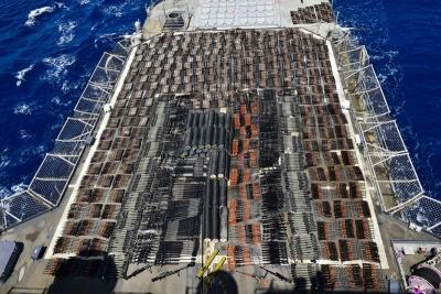 Το μεγαλύτερο φορτίο όπλων κατέσχεσε το πολεμικό ναυτικό των ΗΠΑ στην Aραβική θάλασσα