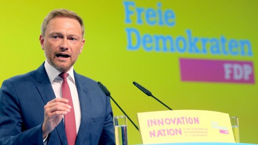 Γερμανία - FDP: Με 93% επανεξελέγη πρόεδρος ο Christian Lindner  - Στροφή στο κέντρο