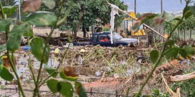 Εκτεταμένες ζημιές στη Λαμία από το πέρασμα της κακοκαιρίας «Ιανός»