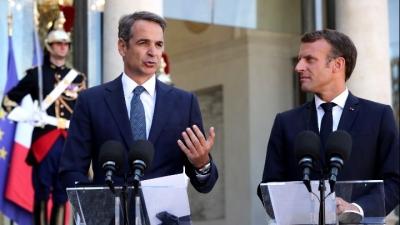 Επικοινωνία Μητσοτάκη – Macron για ευρωτουρκικές σχέσεις, ανατολική Μεσόγειο και Λιβύη