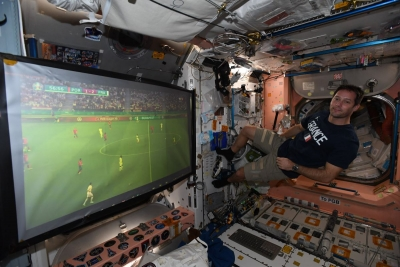 EURO 2020 και στο διάστημα – Ο Thomas Pesquet παρακολούθησε τον αγώνα της Γαλλίας από τον διαστημικό σταθμό!