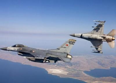 Υπερπτήσεις τουρκικών F16 πάνω από το Αγαθονήσι, Παναγιά και Οινούσες