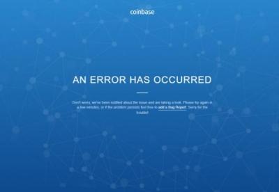 Τεχνικά προβλήματα στην πλατφόρμα Coinbase εν μέσω sell off  στα κρυπτονομίσματα