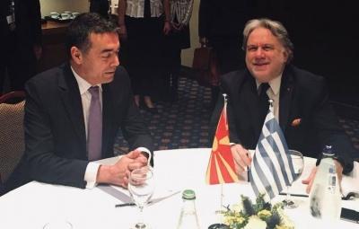 Η πιστή εφαρμογή της Συμφωνίας των Πρεσπών στο επίκεντρο της συνάντησης Κατρούγκαλου - Dimitrov