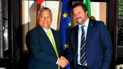 Salvini και Orban σφυρηλατούν τη συνεργασία τους – Συμμαχία ενάντια στη «φούσκα της ΕΕ» και τη «μεταναστευτική εισβολή»