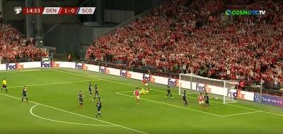Δανία - Σκωτία 2-0: Απολαυστικοί οι γηπεδούχοι με δυο γκολ μέσα σε 80 δευτερόλεπτα! (video)