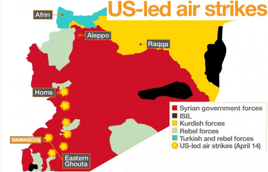 Αναποτελεσματική η επίθεση των ΗΠΑ στην Συρία, το 70% των πυραύλων καταρρίφθηκε - Εκτόξευσαν 103 πυραύλους και καταρρίφθηκαν οι 71
