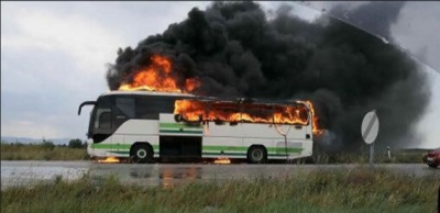 Κεραυνός χτύπησε λεωφορείο του ΚΤΕΛ Έβρου - Καταστράφηκε ολοσχερώς