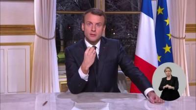 Macron (Γαλλία):  Η κορύφωση του β' κύματος της πανδημίας πέρασε - Ξεκινάμε άρση του lockdown από 15/12 - Τι είπε για τα εμβόλια