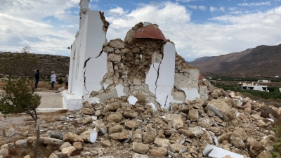 Σεισμός στην Κρήτη - Το εκκλησάκι που γκρέμισε ο Εγκέλαδος