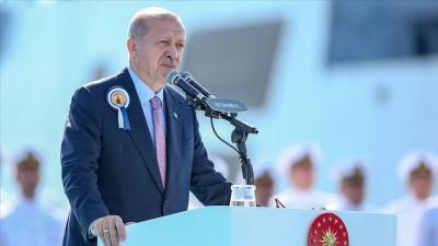 Erdogan: Οι εξελίξεις στη Μεσόγειο καταδεικνύουν πως η Τουρκία χρειάζεται ισχυρό πολεμικό ναυτικό