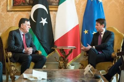 Συνάντηση Conte - Sarraj στη Ρώμη για το Λιβυκό - Μόνη λύση για το τέλος του εμφυλίου η πολιτική διαδικασία