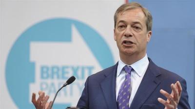 Βρετανία: Σταθερά πρώτο το κόμμα υπέρ του Brexit με 34% - Μόλις στο 12% οι Συντηρητικοί