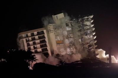 ΗΠΑ: Κατεδάφισαν το 12ώροφο κτήριο στην Φλόριντα… λόγω τροπικής καταιγίδας