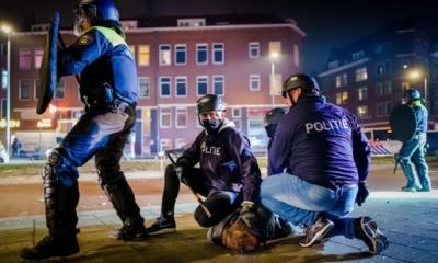 Συνεχίζονται για 3η νύχτα οι έντονες αντιδράσεις κατά του lockdown στην Ολλανδία - 150 συλλήψεις