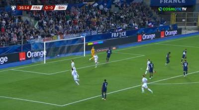 Γαλλία - Βοσνία 1-1: Ο Τζέκο βάζει μπροστά φιλοξενούμενους και ο Γκριεζμάν ισοφαρίζει! (video)