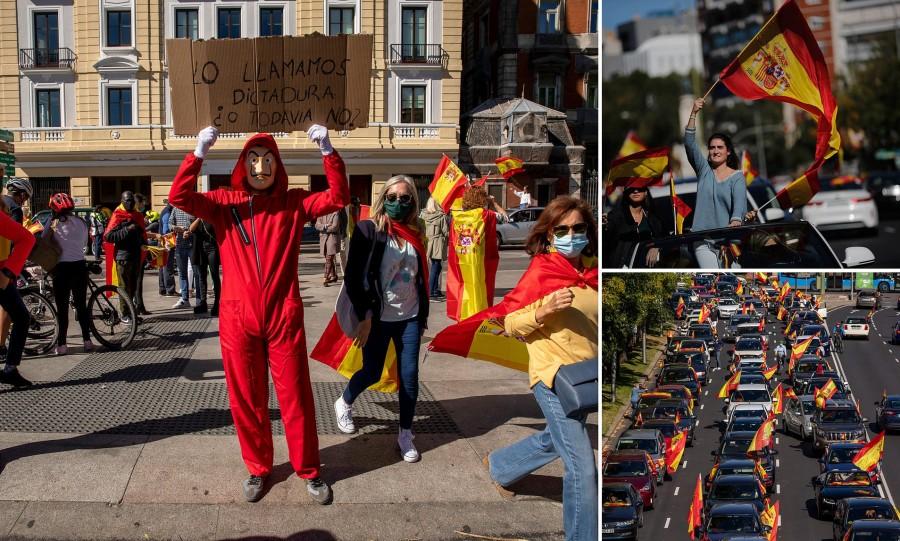 Ισπανία: Διαδηλώσεις με αφορμή τα μέτρα κατά της πανδημίας από το ακροδεξιό Vox