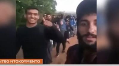 Έβρος - Βίντεο ντοκουμέντο: Εκατοντάδες μετανάστες φθάνουν στην Ελλάδα