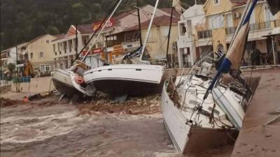 Ξεκίνησε η απογραφή των καταστροφών από τον «Ιανό» - 3 νεκροί και 1 αγνοούμενη - Σε Ζάκυνθο και Ιθάκη ο Χαρδαλιάς