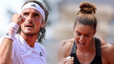 Τσιτσιπάς - Σάκκαρη: Για τα «χρυσά» παιδιά του ελληνικού τένις το ταξίδι συνεχίζεται!