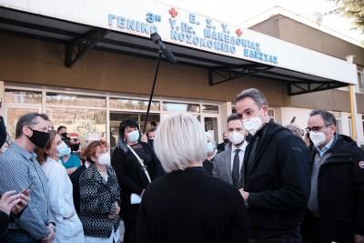 Μητσοτάκης: Μειώνονται σταθερά τα κρούσματα στη βόρεια Ελλάδα – Να δώσουν το παράδειγμα οι υγειονομικοί, να εμβολιαστούν