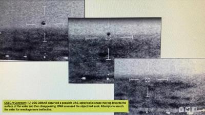 UFO: Μυστήριο με βίντεο του πολεμικού ναυτικού ΗΠΑ - Άγνωστο αντικείμενο βυθίζεται στη θάλασσα