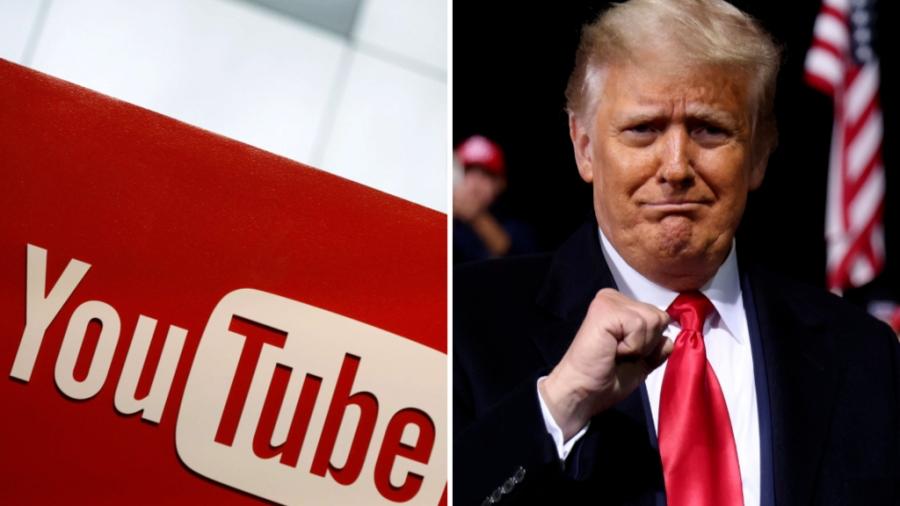 To YouTube αποκλείει τον Donald Trump επ' αόριστον