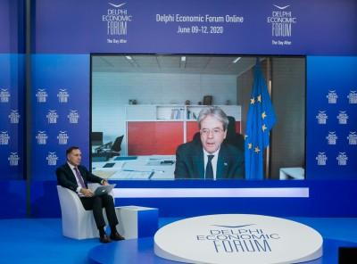 Gentiloni (ΕΕ): Εμπιστοσύνη για τη βιωσιμότητα του ελληνικού χρέους - Χωρίς μνημόνιο οι όροι δανεισμού - Σε 1 μήνα οι αποφάσεις για το Ταμείο Ανάκαμψης