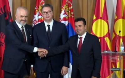 Αύριο η 3η συνάντηση των ηγετών Αλβανίας, Β. Μακεδονίας, Σερβίας για την «μικρή Σένγκεν»