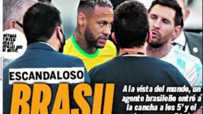 Καυστικό πρωτοσέλιδο της εφημερίδας Ole: «Σκάνδαλο: Βραζιλία, παγκόσμια πρωταθλήτρια στα χαρτιά»