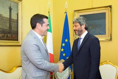 H ελληνική οικονομία στο επίκεντρο των συναντήσεων Τσίπρα στην Ιταλία