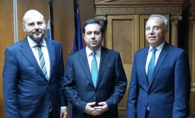 Συνάντηση του υφυπουργού Εργασίας Ν. Μηταράκη με τους προέδρους του ΤΕΕ και του ΤΜΕΔΕ