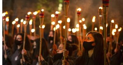 Αρμενία: Διαδήλωση στο Γερεβάν για την επέτειο των 106 χρόνων από τη γενοκτονία