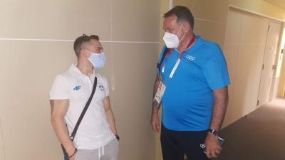 Ο Πρόεδρος της ΕΟΕ Σπύρος Καπράλος επισκέφτηκε τους αθλητές στο Ολυμπιακό Χωριό!