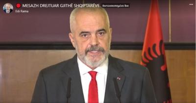 Έκτακτο διάγγελμα Rama – Προειδοποίησε τους Αλβανούς για «τη νέα παγκόσμια κρίση» που έρχεται
