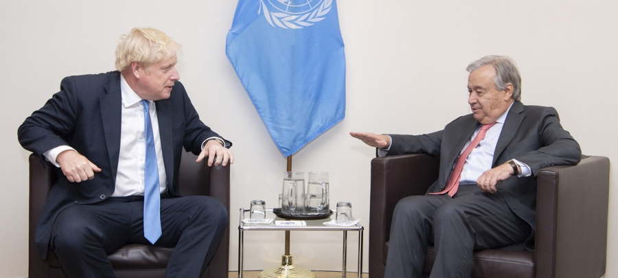 To Κυπριακό συζήτησαν Johnson - Guterres στο περιθώριο της G7