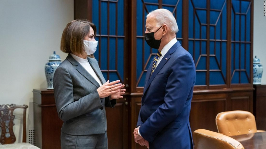 HΠΑ: Στήριξη Biden στην αντιπολίτευση κατά του καθεστώτος Lukoachenko – Συνάντηση με Tsikhanouskaya