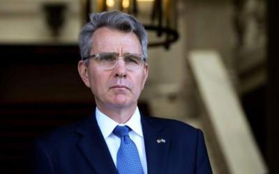 Στο υπουργείο Εθνικής Άμυνας ο Αμερικανός πρέσβης Jeffrey Pyatt