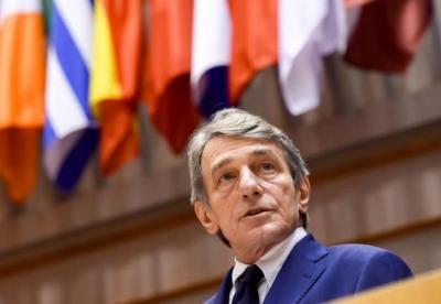 Ευρωκοινοβούλιο: Επίσκεψη Sassoli στην Αθήνα στις 27 - 28 Μαΐου 2021