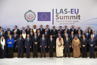 Για μια «νέα εποχή» στη συνεργασία τους δεσμεύθηκαν οι Ευρωπαίοι και οι Άραβες ηγέτες