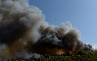 Σε ύφεση η καταστροφική πυρκαγιά στην Αχαΐα –  Υπό έλεγχο στο Αγρίνιο, σε εξέλιξη στη Ρόδο