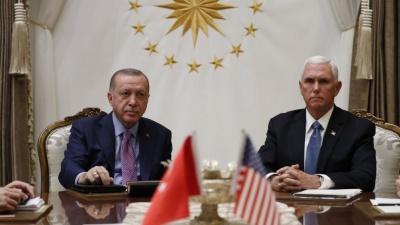 Δύσκολη η συνάντηση Pence - Erdogan για τη συμφωνία κατάπαυσης πυρός στη Συρία