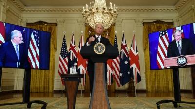 Συμμαχία Biden, Johnson, Morrison για να αναχαιτιστεί η Κίνα - Οργή στη Γαλλία - Τι λέει το Πεκίνο