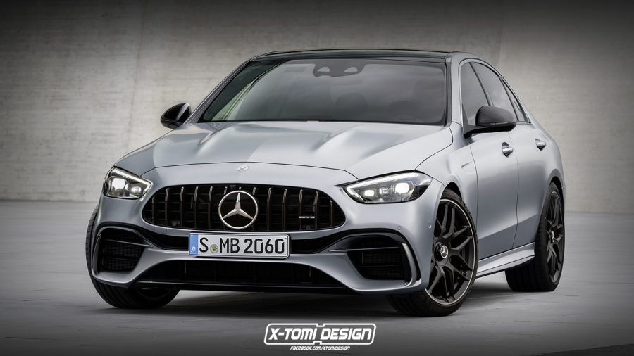 H νέα Mercedes-AMG C63 θα είναι δίλιτρη plug-in υβριδική με 550 άλογα!