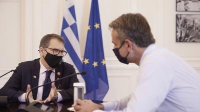Συνάντηση Μητσοτάκη με το μέλος του Κογκρέσου των ΗΠΑ, G. Bilirakis